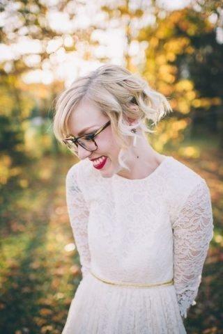 Panna Młoda w okularach - fale