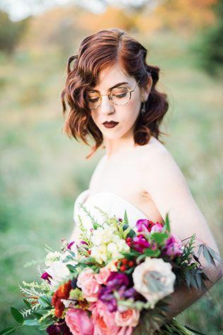 Panna Młoda w okularach - bob
