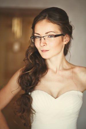 Panna Młoda w okularach - standardowe oprawki