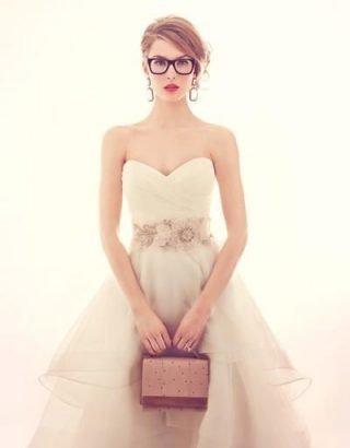 Panna Młoda w okularach - retro