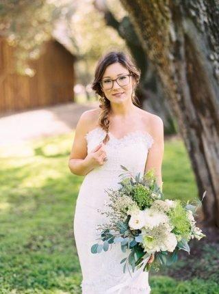 Panna Młoda w okularach - warkocz