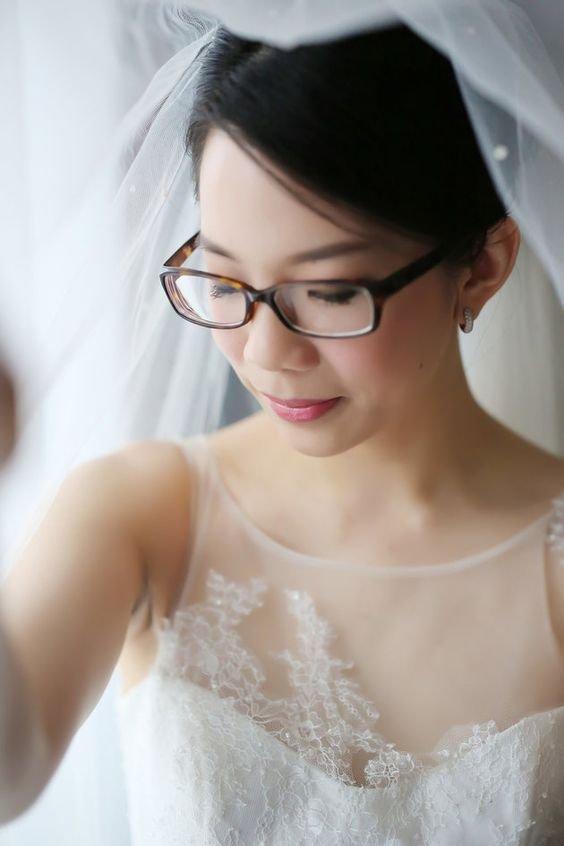 Panna Młoda w okularach - klasyczne oprawki