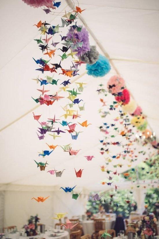 papierowe dekoracje weselne - zdjęcie 4