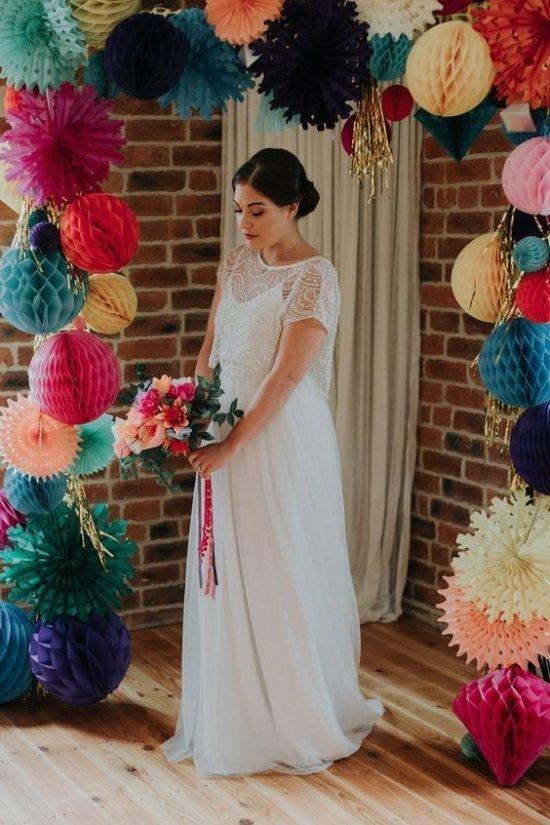 papierowe dekoracje weselne - zdjęcie 2
