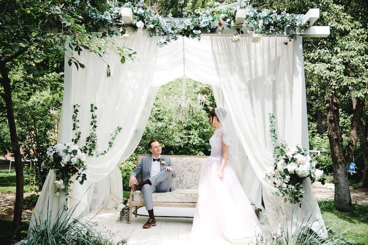 para młoda ślub w plenerze