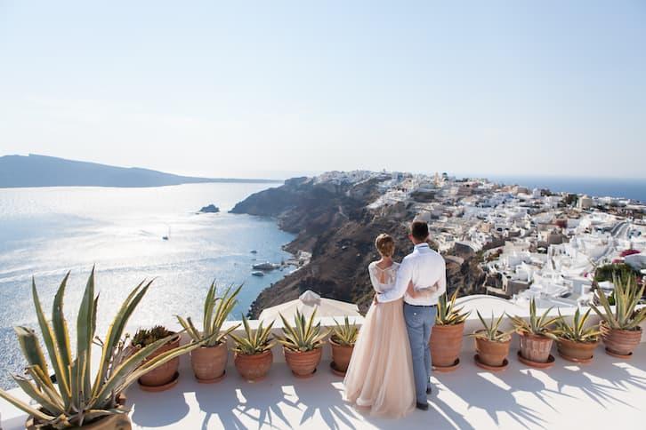 para młoda taras ślub za granicą