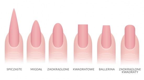 paznokcie ślubne kształt