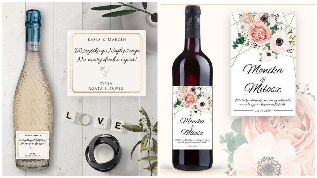 alkohol na ślub dla pary młodej