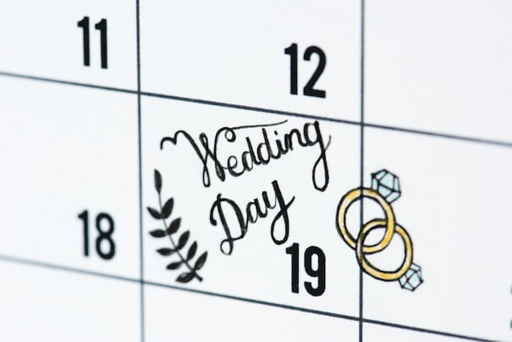 kalendarz organizacja wesela