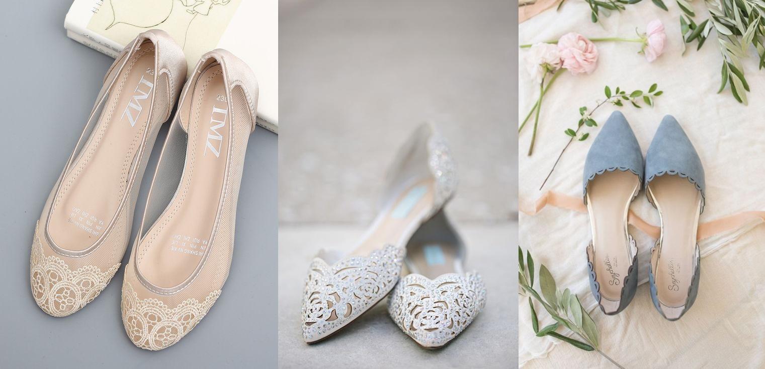 Płaskie buty do ślubu - zdjęcie 1