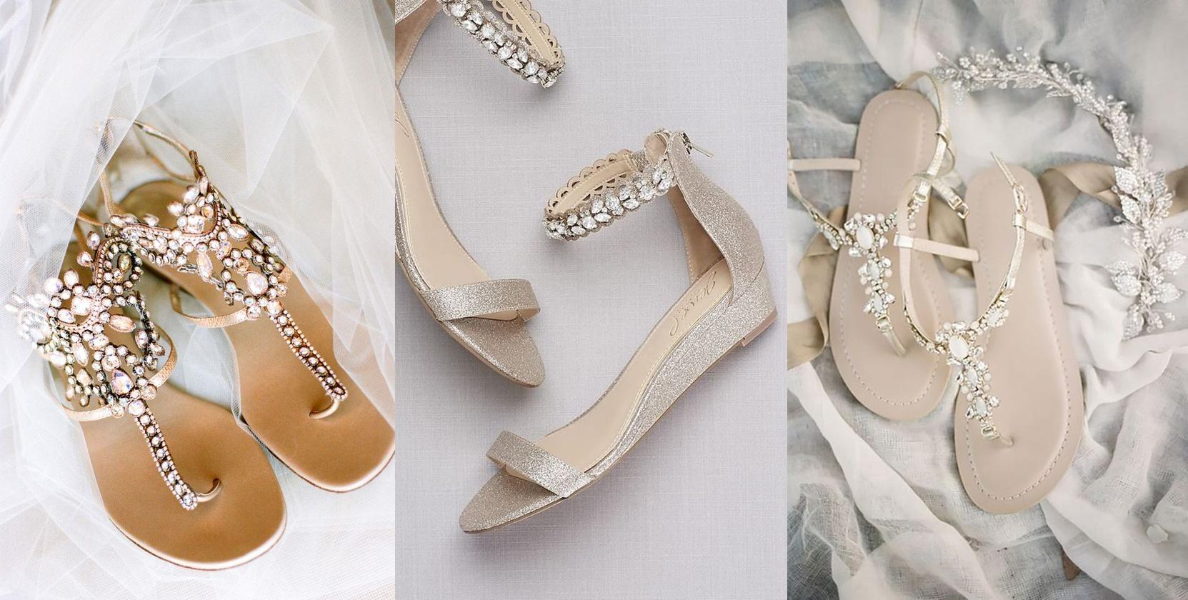 8d35e554e35c9 Płaskie buty do ślubu - wygodnie i z klasą - Wedding.pl