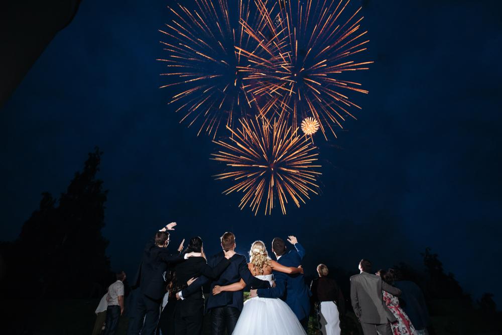 Pokaz sztucznych ogni na weselu - zdjęcie 2