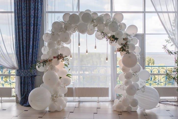 balony z helem wesele