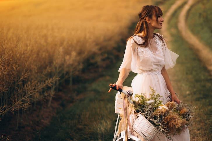 panna młoda rower