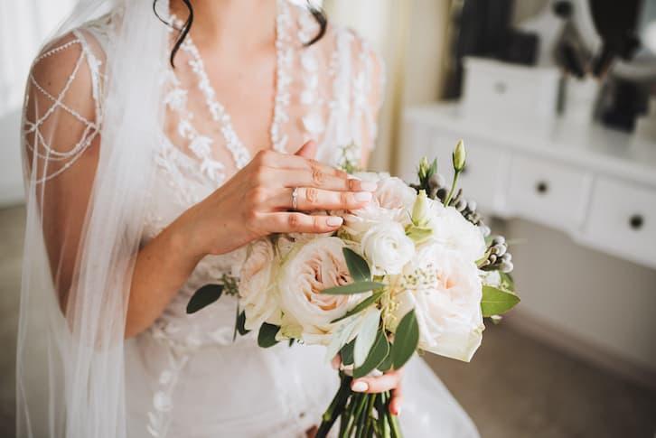 spalenie bukietu ślubnego