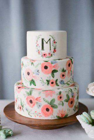 Ręcznie malowane torty weselne - zdjęcie 10