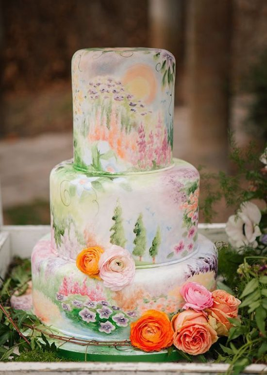 Ręcznie malowane torty weselne - zdjęcie 11