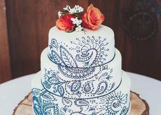 Ręcznie malowane torty weselne - zdjęcie 12