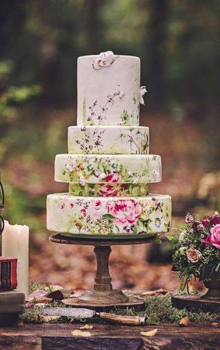 Ręcznie malowane torty weselne - zdjęcie 2