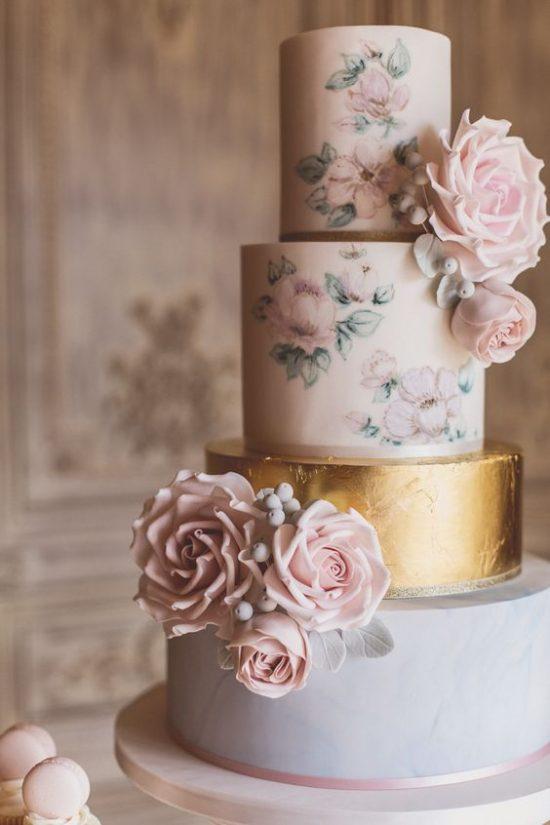 Ręcznie malowane torty weselne - zdjęcie 5