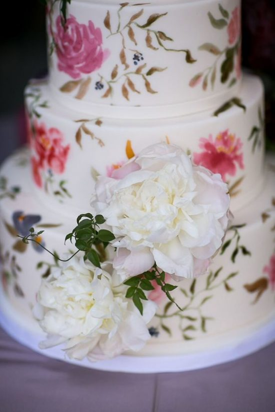 Ręcznie malowane torty weselne - zdjęcie 7