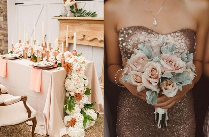 Rose gold jako motyw przewodni wesela - zdjęcie 6