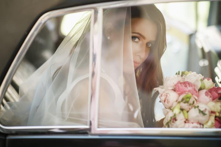 samochód do ślubu panna młoda
