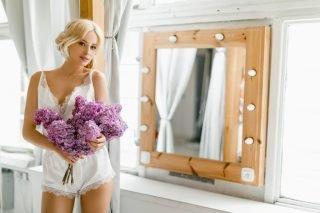 Satynowa piżamka - prezent ślubny