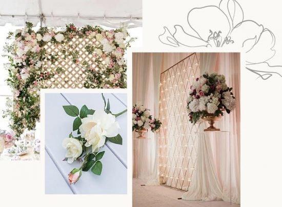 Ścianka kwiatowa na wesele