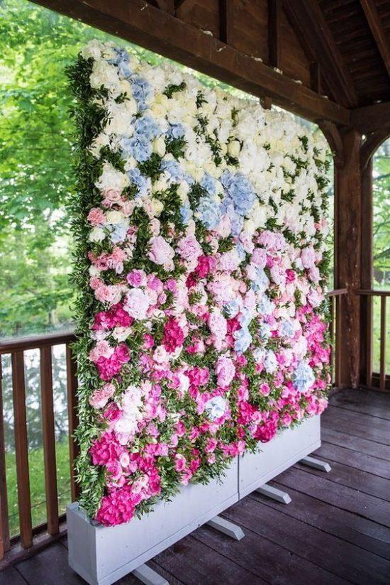 Ścianka kwiatowa na wesele 1
