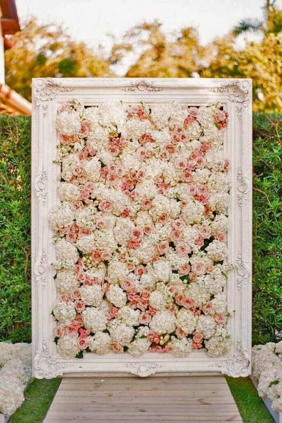 Ścianka kwiatowa na wesele 2