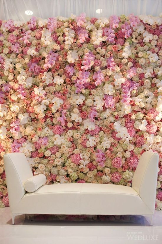 Ścianka kwiatowa na wesele 5
