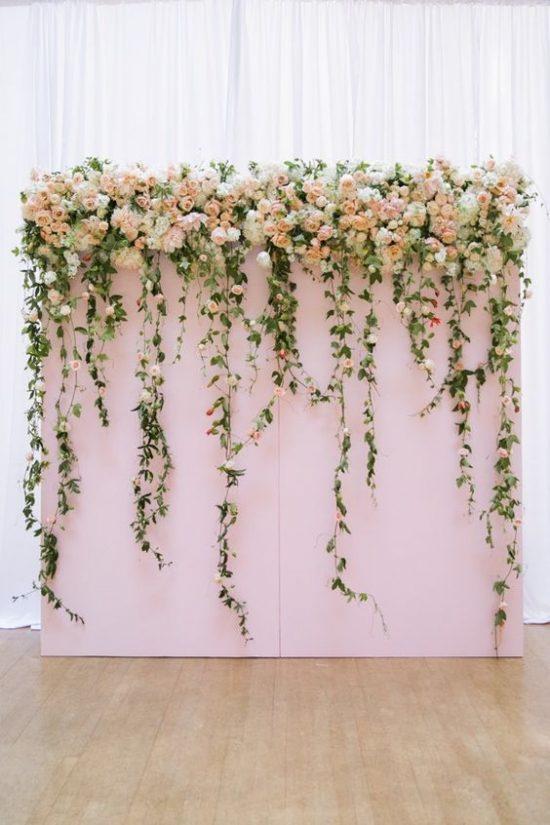 Ścianka kwiatowa na wesele 8