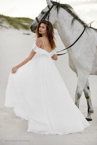Suknia ślubna z falbanką SENSE by Elizabeth Passion