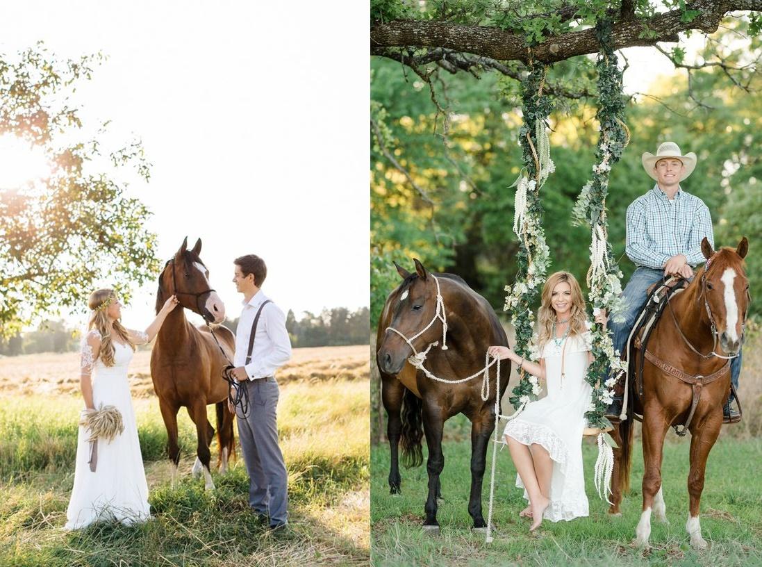 Sesja ślubna z końmi - zdjęcie 6