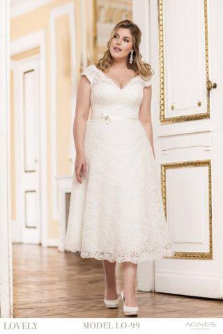 Skromna suknia ślubna plus size Agnes Fashion Group