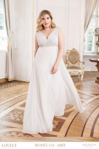 Prosta suknia ślubna dla puszystych Agnes Fashion Group