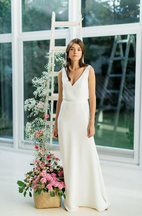 Skromna suknia ślubna Catarina Kordas