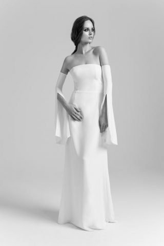 Skromna suknia ślubna nowoczesna PoProstu