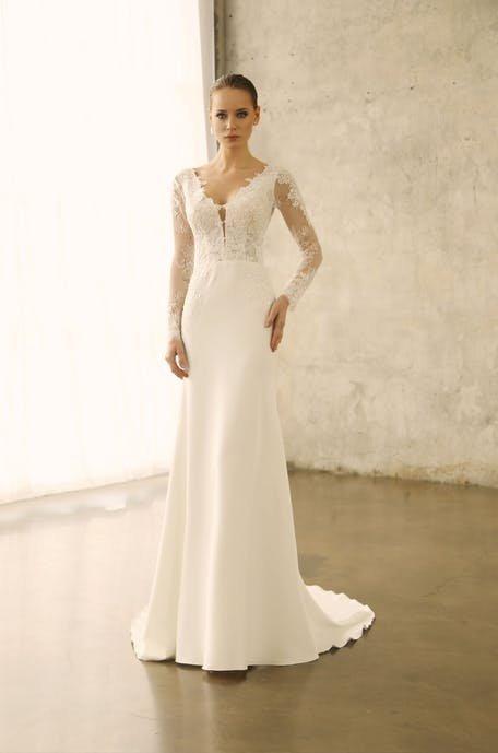 proste suknie ślubne koronkowe