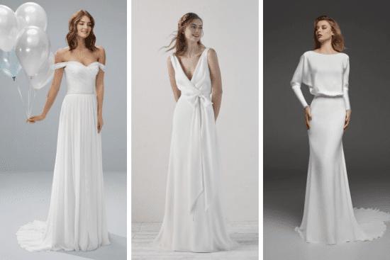 Skromne suknie ślubne