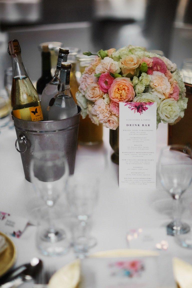 Ślub blogerki ALEXDARG - dekoracje stołów