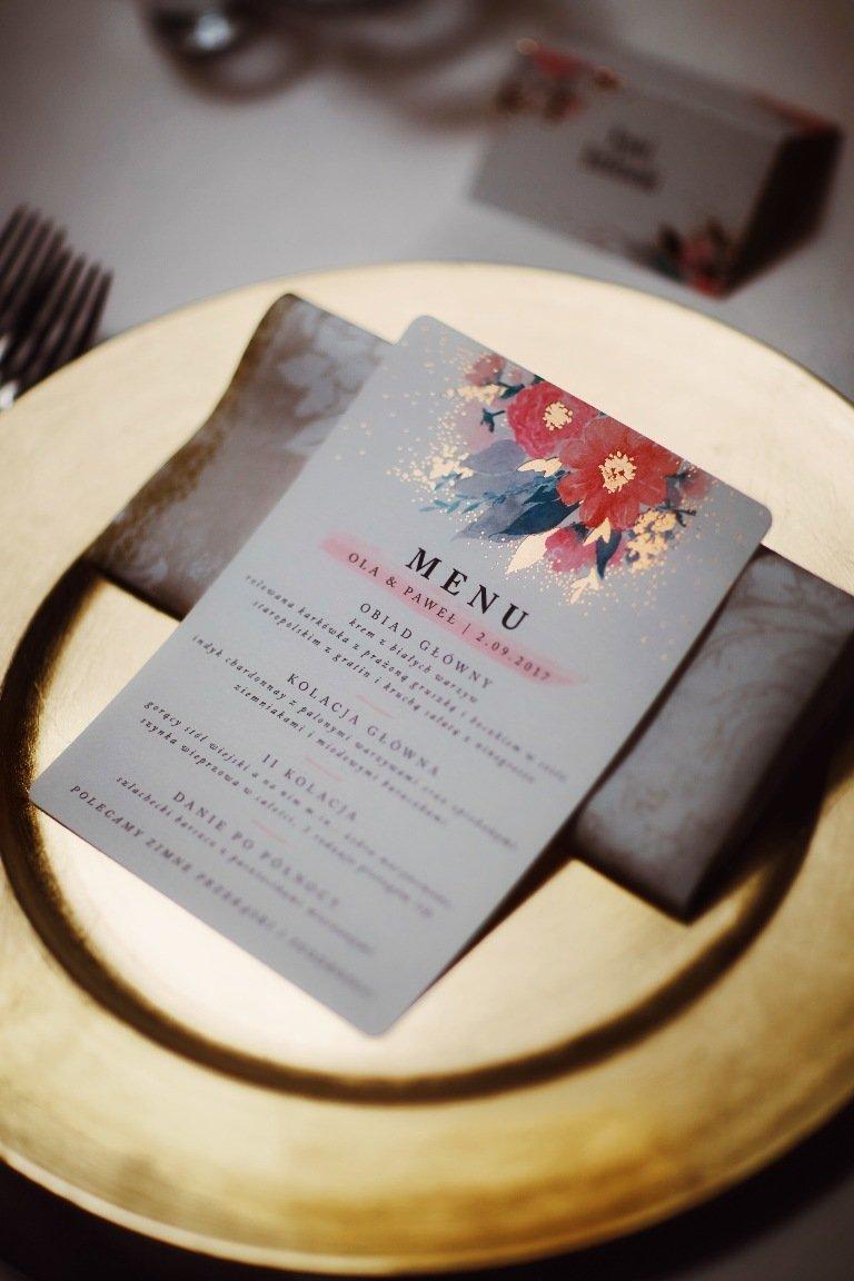 Ślub blogerki ALEXDARG - menu