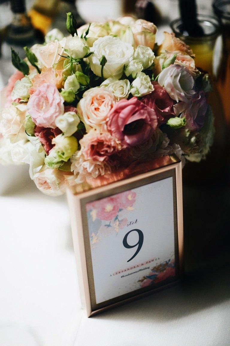 Ślub blogerki ALEXDARG - numerki stołów