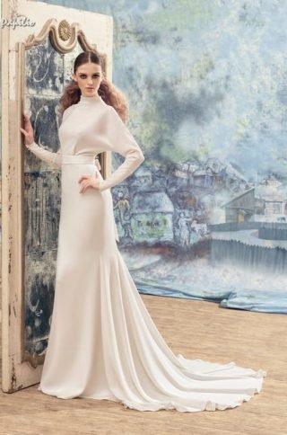Suknia ślubna z długim rękawem