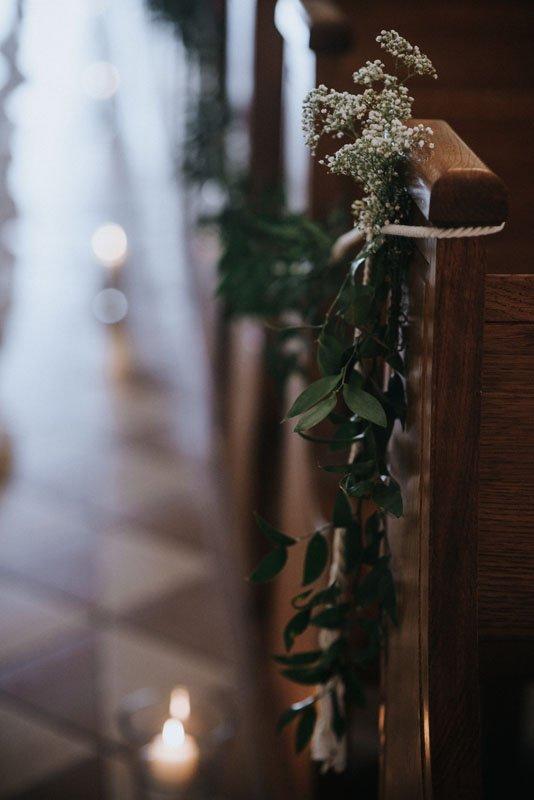 dekoracje kościoła w stylu boho glamour