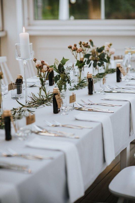 dekoracje stołu weselnego w stylu boho glamour