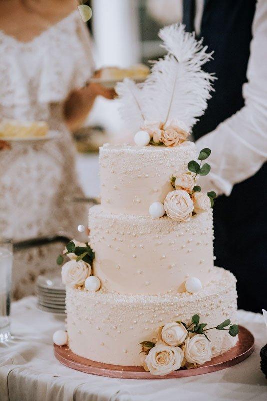 tort weselny w stylu boho glamour