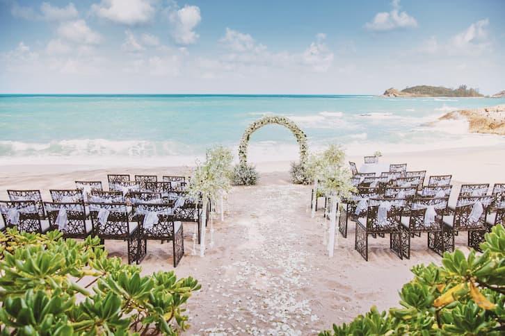ślub na plaży ocean