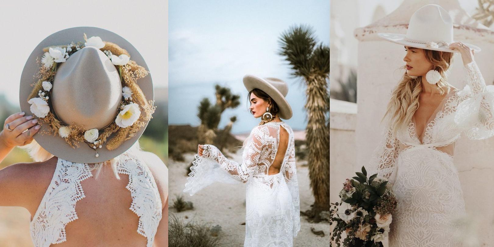 Ślubne nakrycia głowy -kapelusz - zdjęcie 4